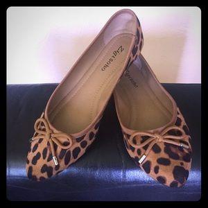 ZIGI Soho leopard ballet flats.